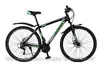 Горный Велосипед Champion Spark колеса 27.5 дюймов, стальная рама 17 дюймов, вес 15кг - Черный-Зеленый-Белый