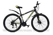 Горный Велосипед Champion Spark колеса 29 дюймов, стальная рама 17 дюймов, вес 16кг - Черный-Желтый неон-Белый