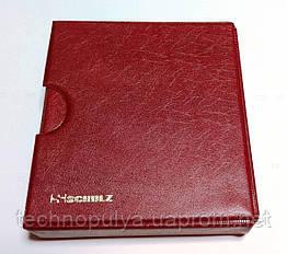 Альбом для монет Schulz 221 ячейка в футляре улучшенный Бордовый (hub_77a3af)