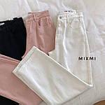 Жіночі штани батал, стрейч - джинс бенгалин, р-р 46-48; 48-50 (пудровий), фото 2