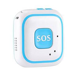 Персональный портативный GPS трекер для детей с кнопкой SOS Badoo Security V28, голубой