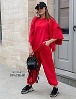 Женский стильный спортивный костюм тройка: батний, футболка и штаны, фото 1
