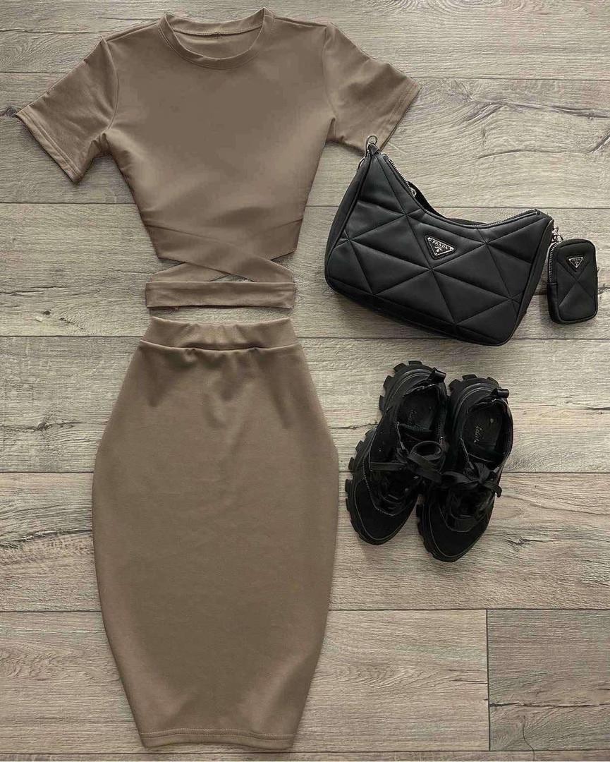 Жіночий костюм, дайвінг, р-р 42-44; 44-46 (мокко)