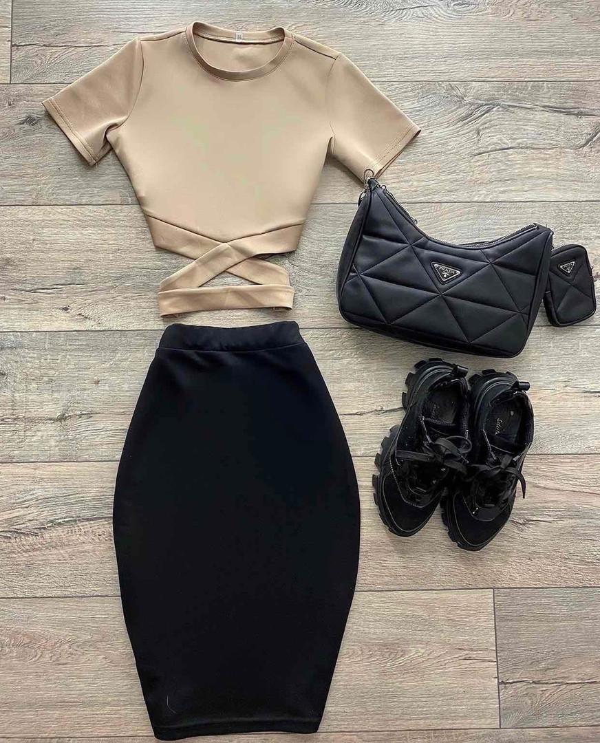 Жіночий костюм, дайвінг, р-р 42-44; 44-46 (бежевий+чорний)