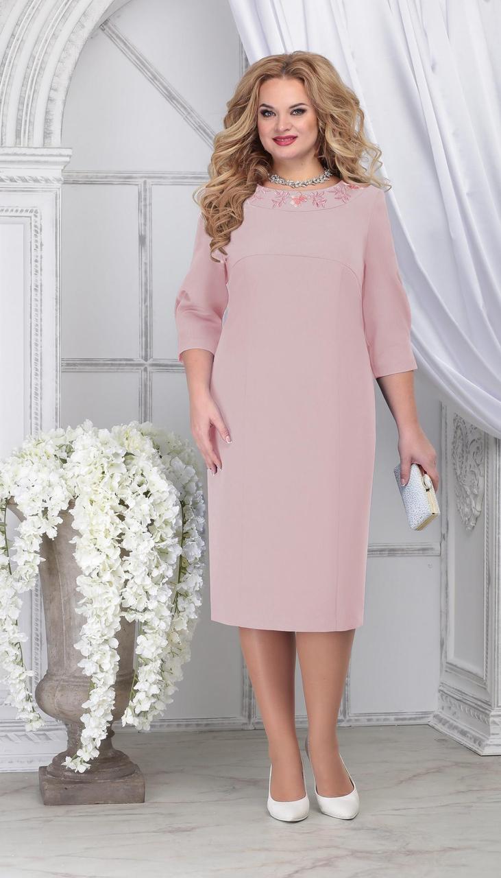 Сукня Ninele-7309/3 білоруський трикотаж, пудра, 54