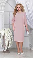 Платье Ninele-7309/3 белорусский трикотаж, пудра, 54