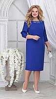 Платье Ninele-7309/6 белорусский трикотаж, василек, 54