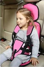 Автокресло бескаркасное дитяче автокрісло легко крепить 9-24 кг. Цвет Комуфляж, розовый.