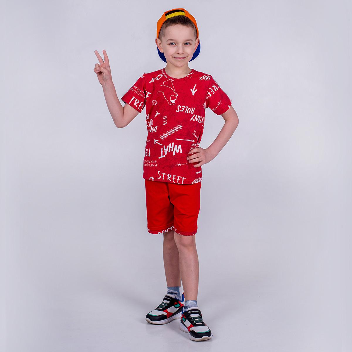 Футболка для мальчика, SmileTime Fun, красная
