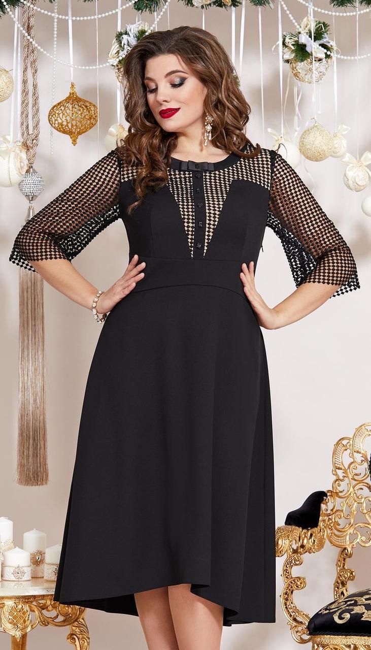 Платье Vittoria Queen-13453 белорусский трикотаж, черный, 46