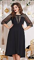 Платье Vittoria Queen-13453 белорусский трикотаж, черный, 46, фото 1