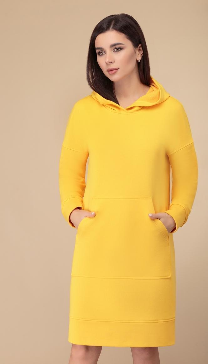 Сукня Svetlana Style-1515 білоруський трикотаж, жовтий, 46