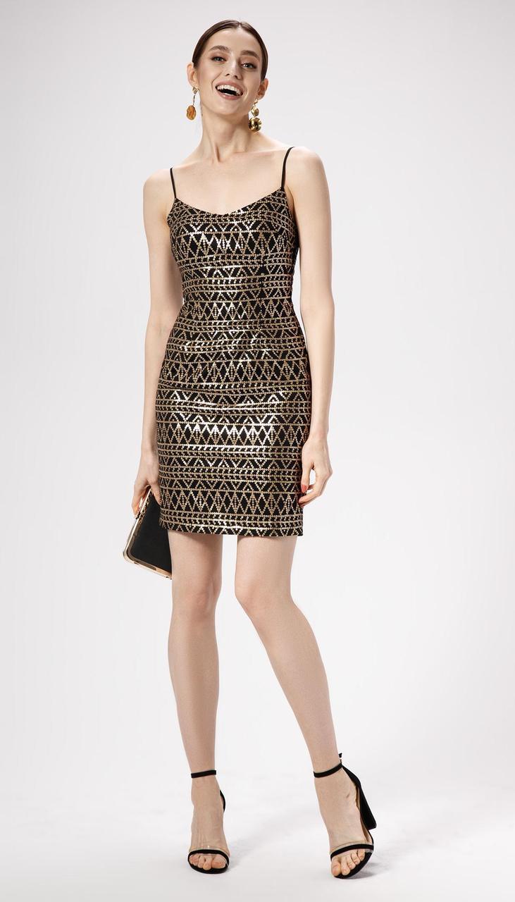 Платье Panda-474380 белорусский трикотаж, черный-золото, 42