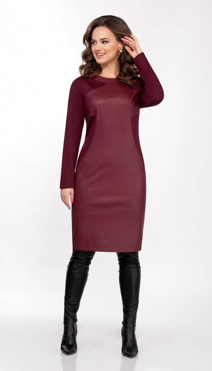 Платье DilanaVIP-1628/1 белорусский трикотаж, бордо, 48