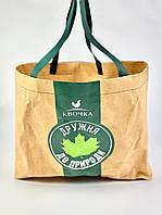 Промо сумка с логотипом вашей компании из крафт бумаги коричневая