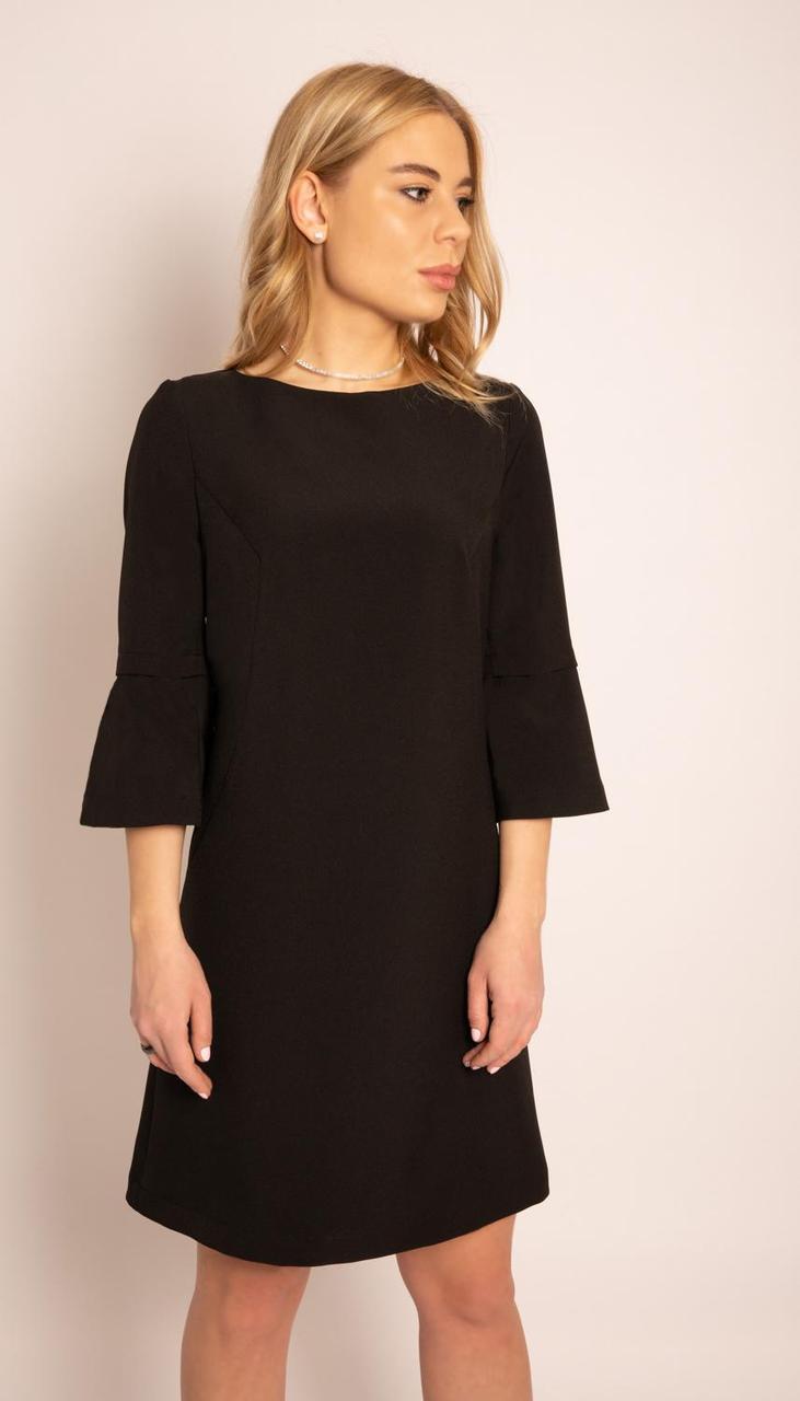 Платье MAX-4-021/1 белорусский трикотаж, черный, 42