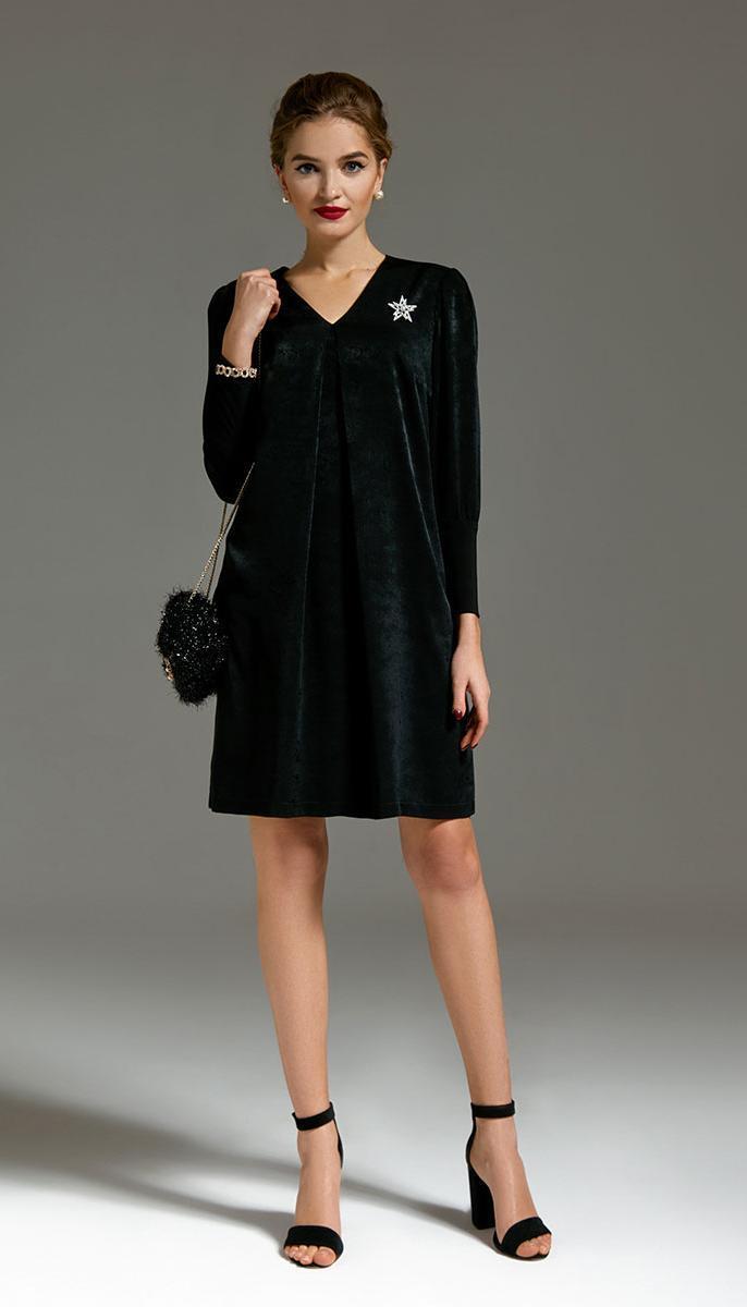 Платье Gizart-6200 белорусский трикотаж, черный, 44