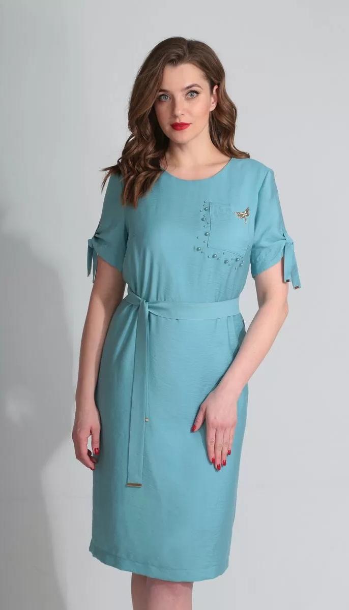 Платье Golden Valley-4565/1 белорусский трикотаж, голубой, 48