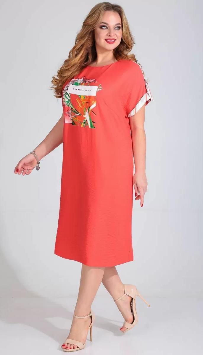 Сукня Golden Valley-4682/1 білоруський трикотаж, корал, 56
