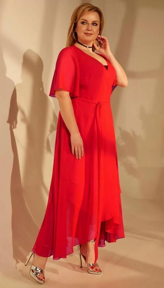 Платье Golden Valley-4684 белорусский трикотаж, красный, 52
