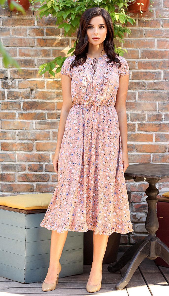 Платье Мода-Юрс-2562 белорусский трикотаж, розовый, 48