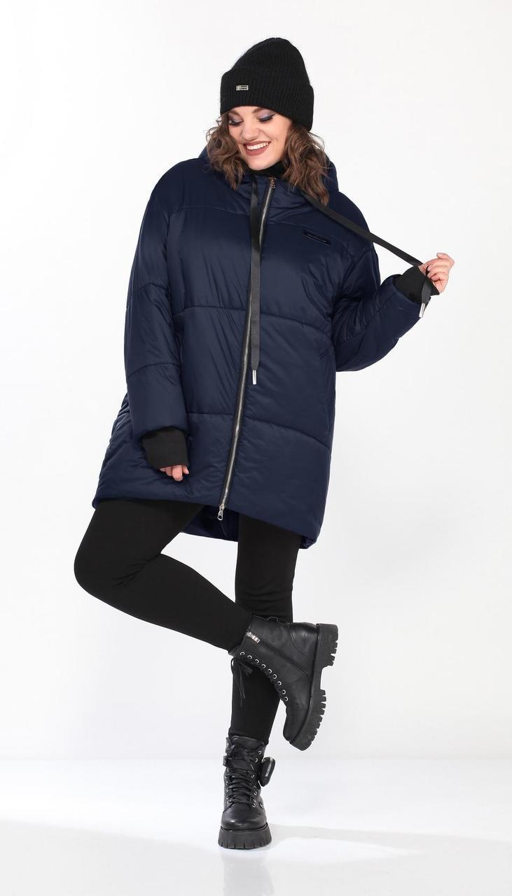 Куртка Lady Secret-6309/2 белорусский трикотаж, синий, 68