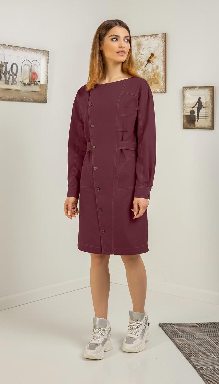 Платье Samnari-Т-118/1 белорусский трикотаж, бордо, 42