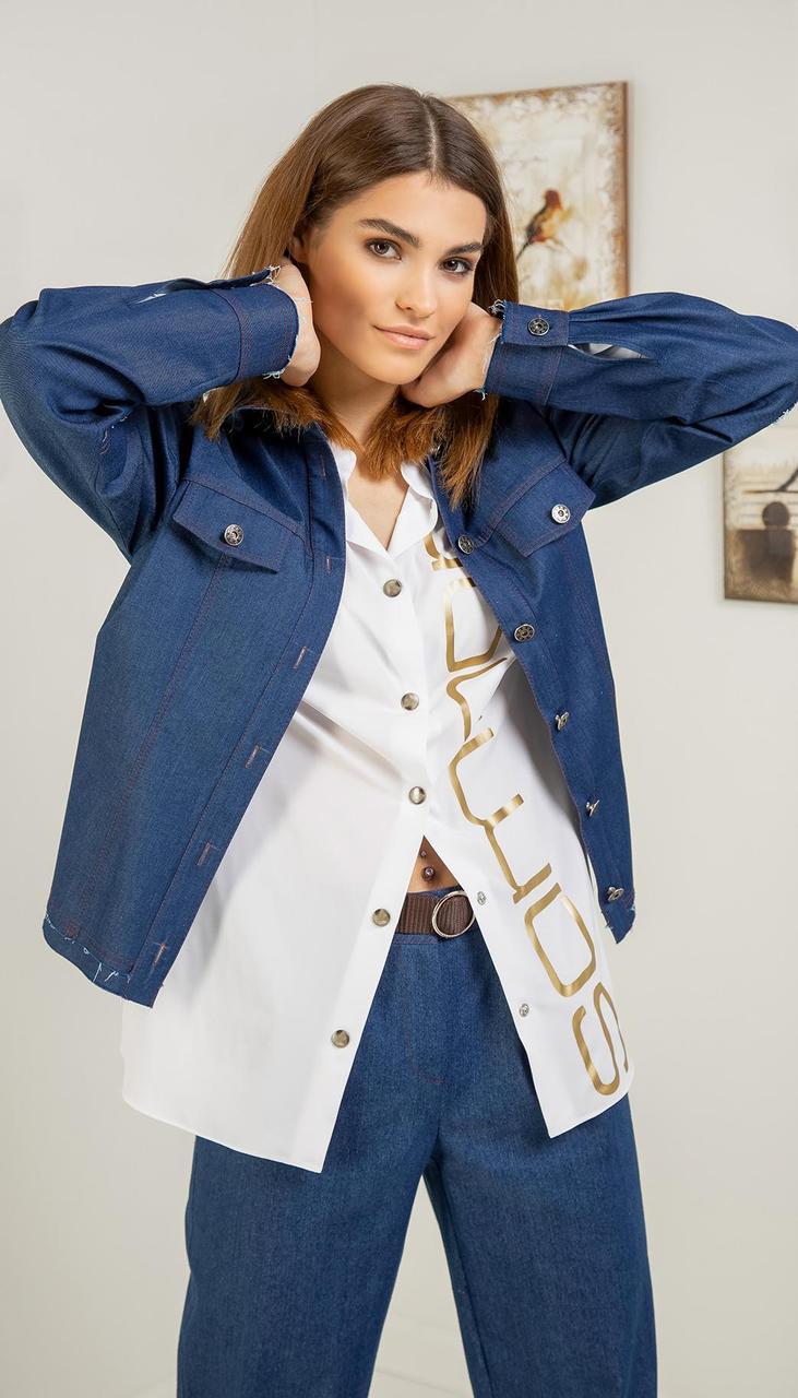 Куртка Samnari-Т-120 білоруський трикотаж, синій, 44