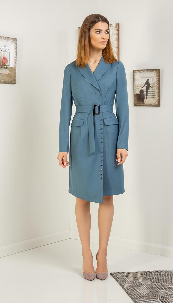 Платье Samnari-Т-121 белорусский трикотаж, голубой, 42