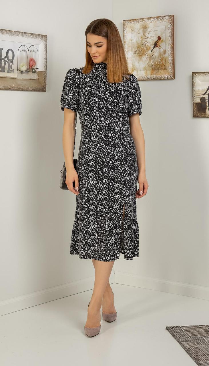 Платье Samnari-Т-122 белорусский трикотаж, серый, 42