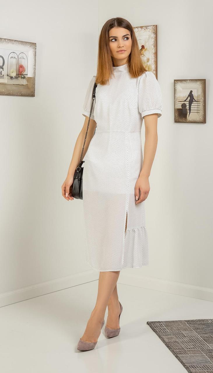 Платье Samnari-Т-122/1 белорусский трикотаж, белый, 42