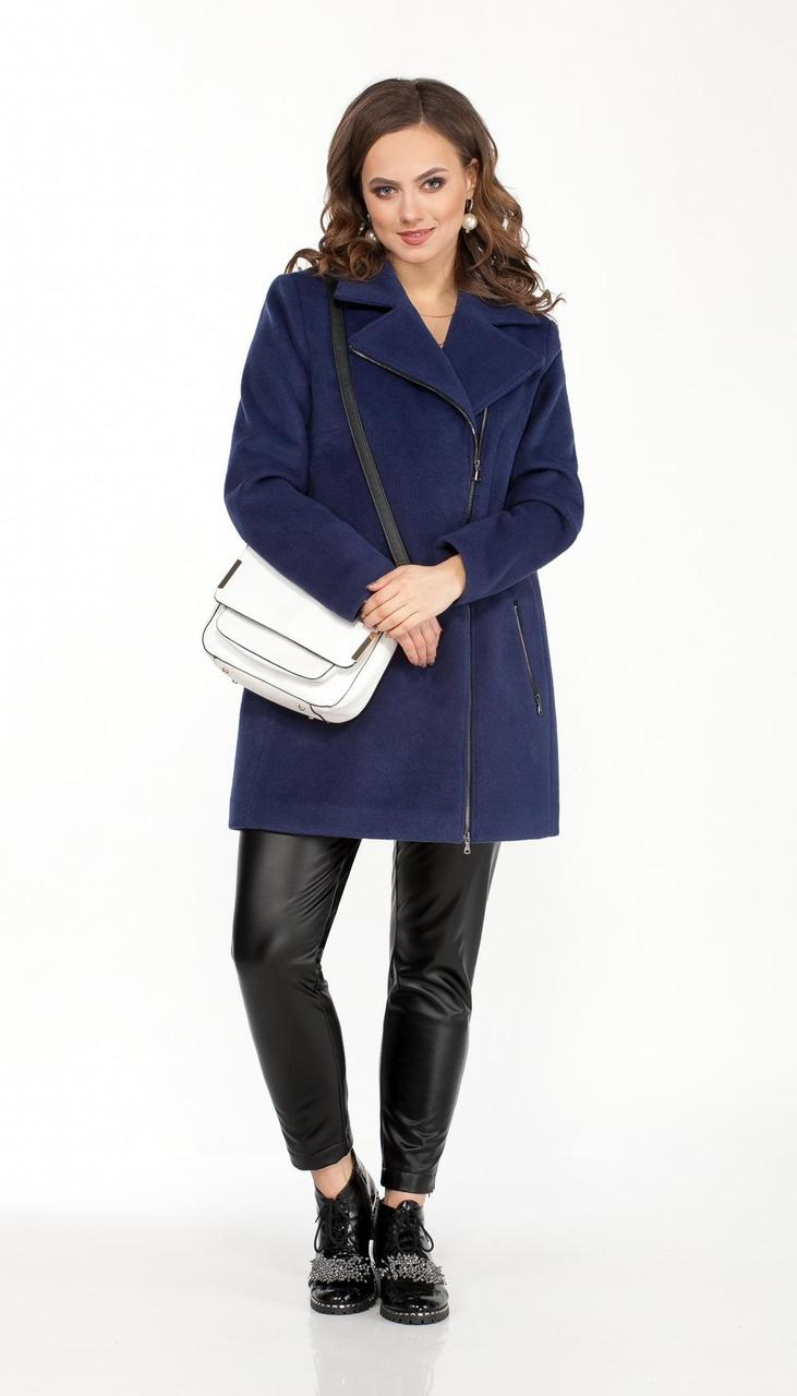 Пальто TEZA-1565/3 белорусский трикотаж, синий, 48
