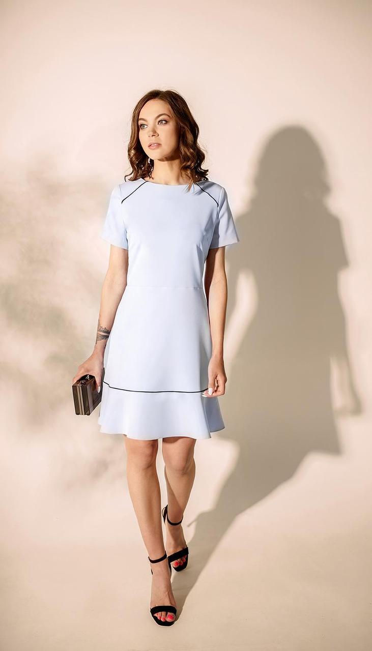 Платье MAX-4-024 белорусский трикотаж, голубой, 42