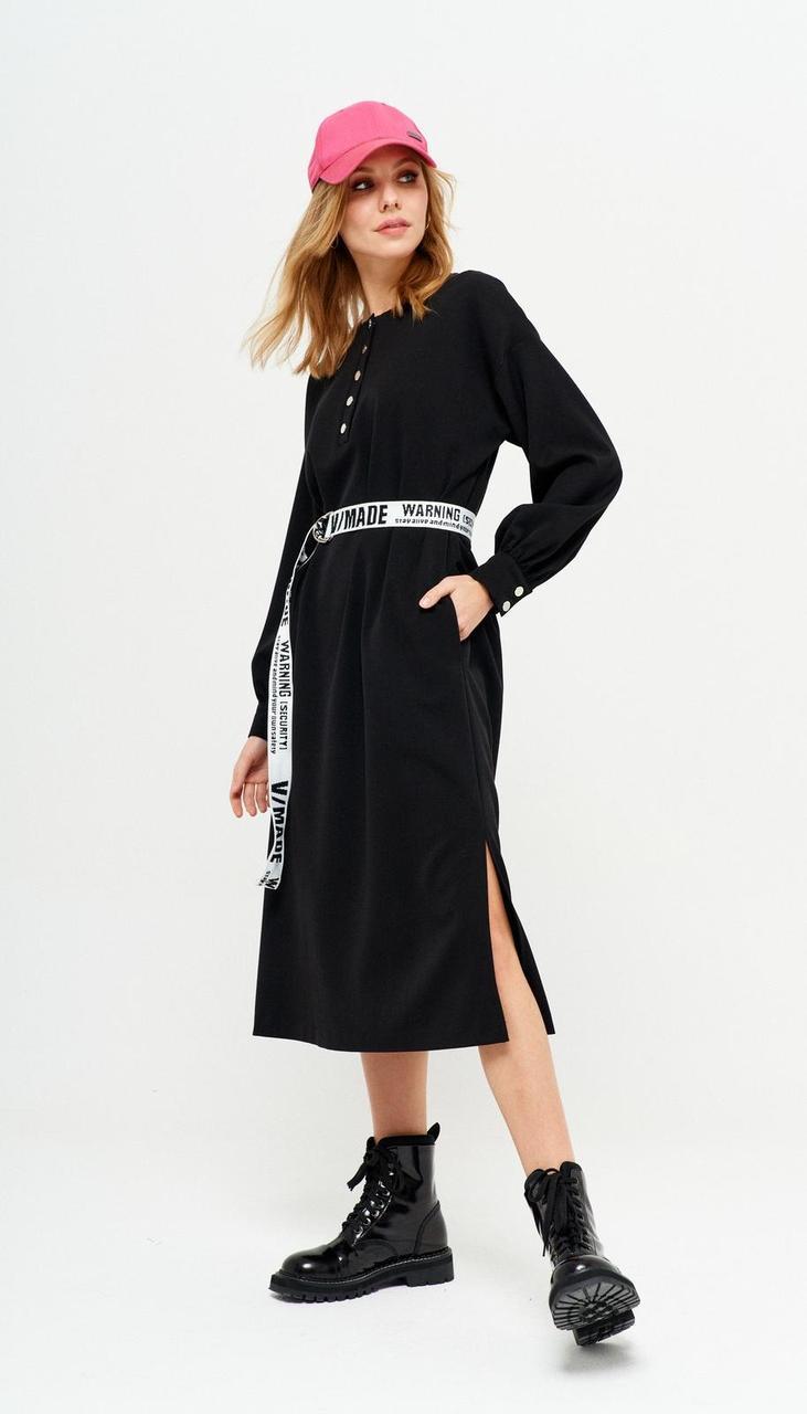 Платье Люше-2565 белорусский трикотаж, черный, 46