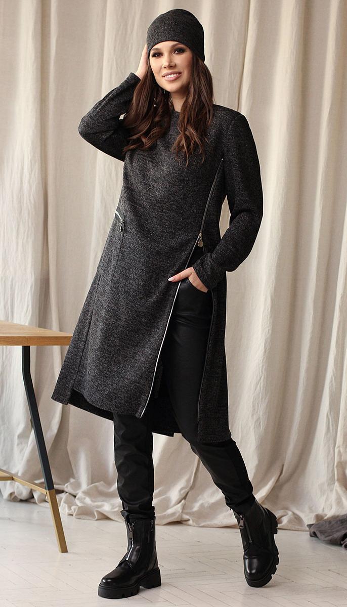 Комплект Мода-Юрс-2631 белорусский трикотаж, черный меланж, 48