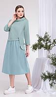 Платье КаринаДелюкс-В-388  белорусский трикотаж, мятный, 54, фото 1