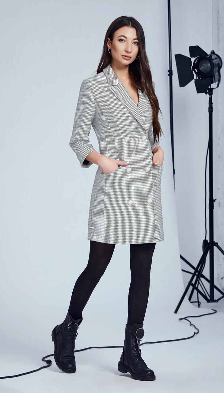 Платье Andrea Fashion-AF-110/1 белорусский трикотаж, серый, 42
