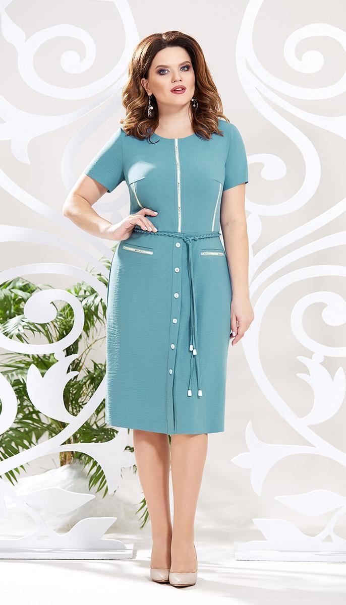 Платье Mira Fashion-4787 -2 белорусский трикотаж, мята, 50