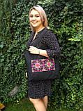 Текстильна сумка з вишивкою Шопер 40, фото 4