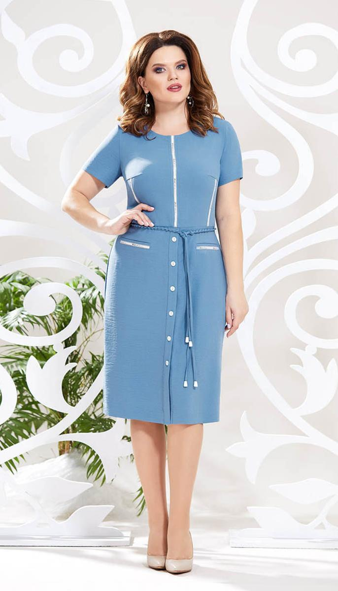 Сукня Mira Fashion-4787 білоруський трикотаж, блакитний, 50