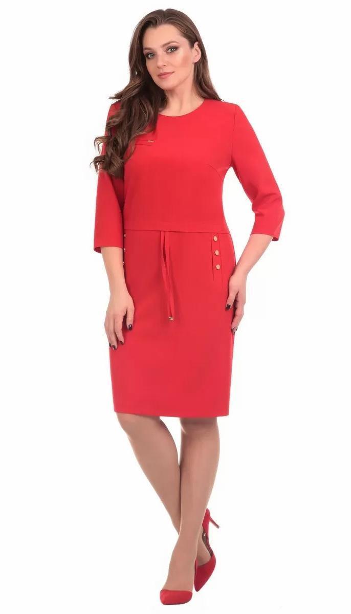 Сукня Лінія-Л-Б-1599 білоруський трикотаж, червоний, 48