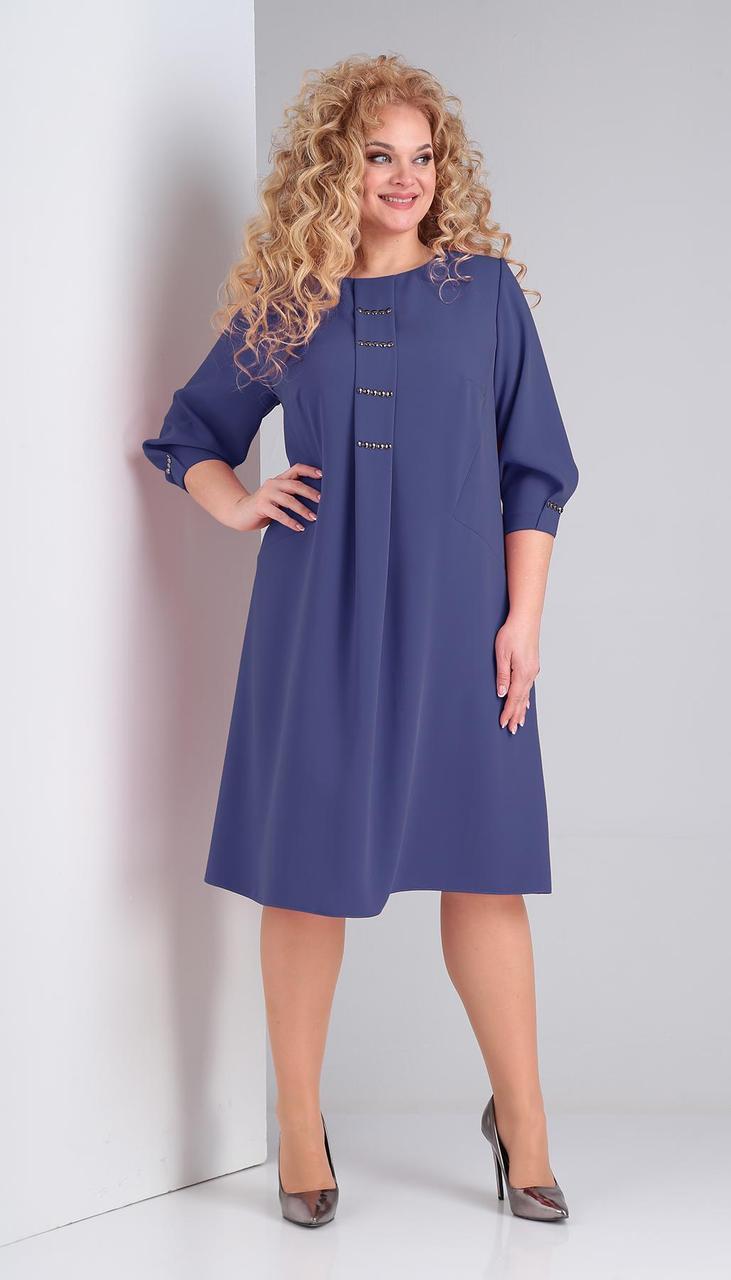 Сукня Ксенія стиль-1849/1 білоруський трикотаж, фіолетовий, 58