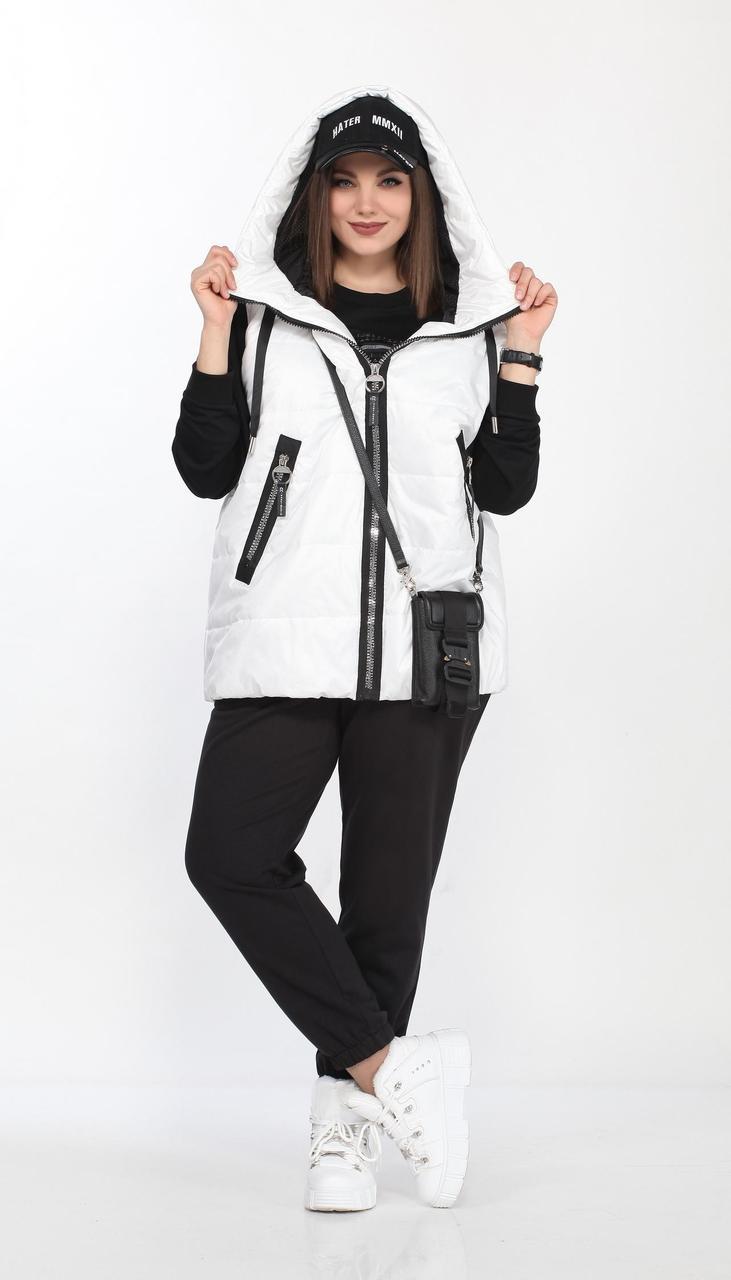 Спортивная одежда Lady Secret-2738 белорусский трикотаж, черный + белый, 50
