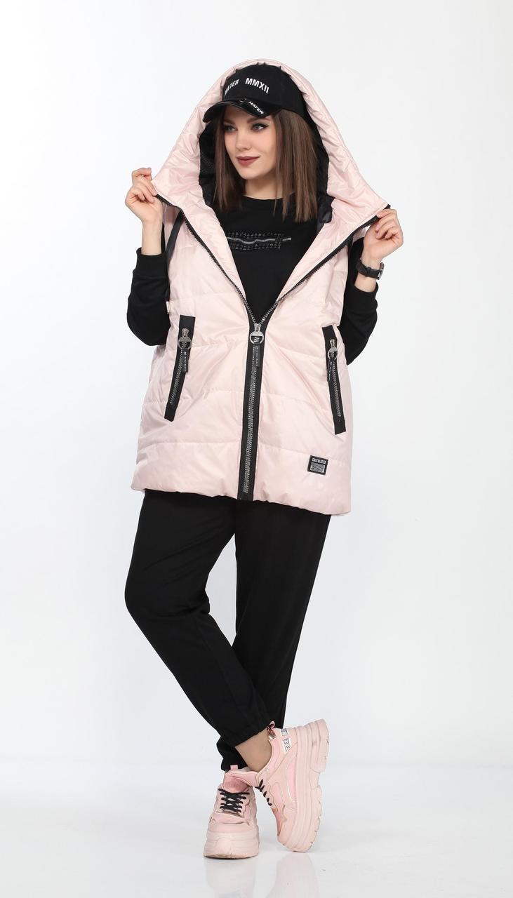 Спортивний одяг Lady Secret-2738/1 білоруський трикотаж, чорний + пудра, 50