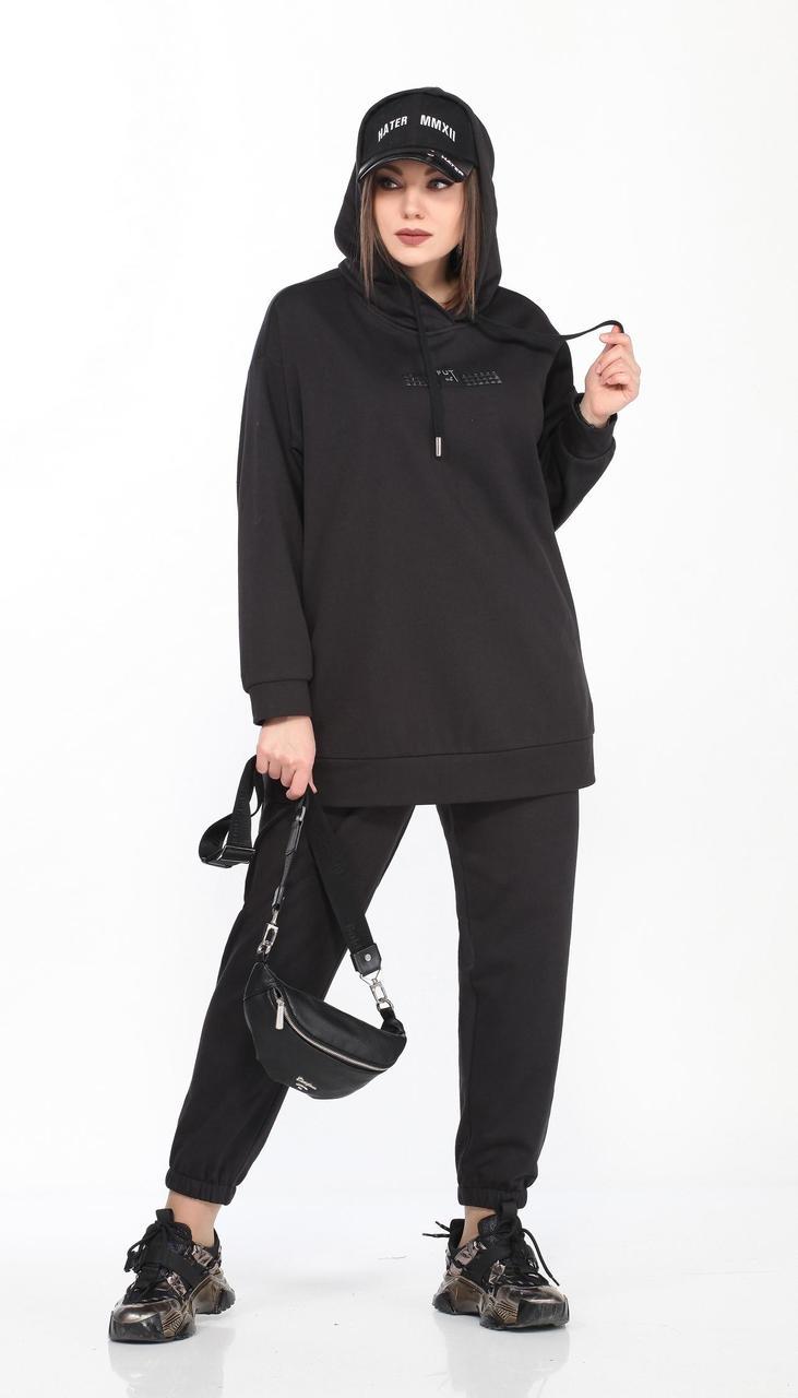 Спортивная одежда Lady Secret-2736/1 белорусский трикотаж, черный, 50