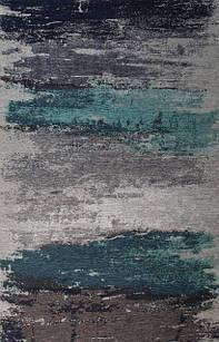 Ковер современный ALMINA 118552 1,6Х2,3 Серо-голубой прямоугольник