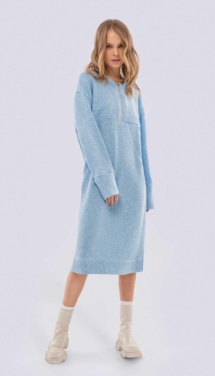 Платье PiRS-2509 белорусский трикотаж, голубой, 40