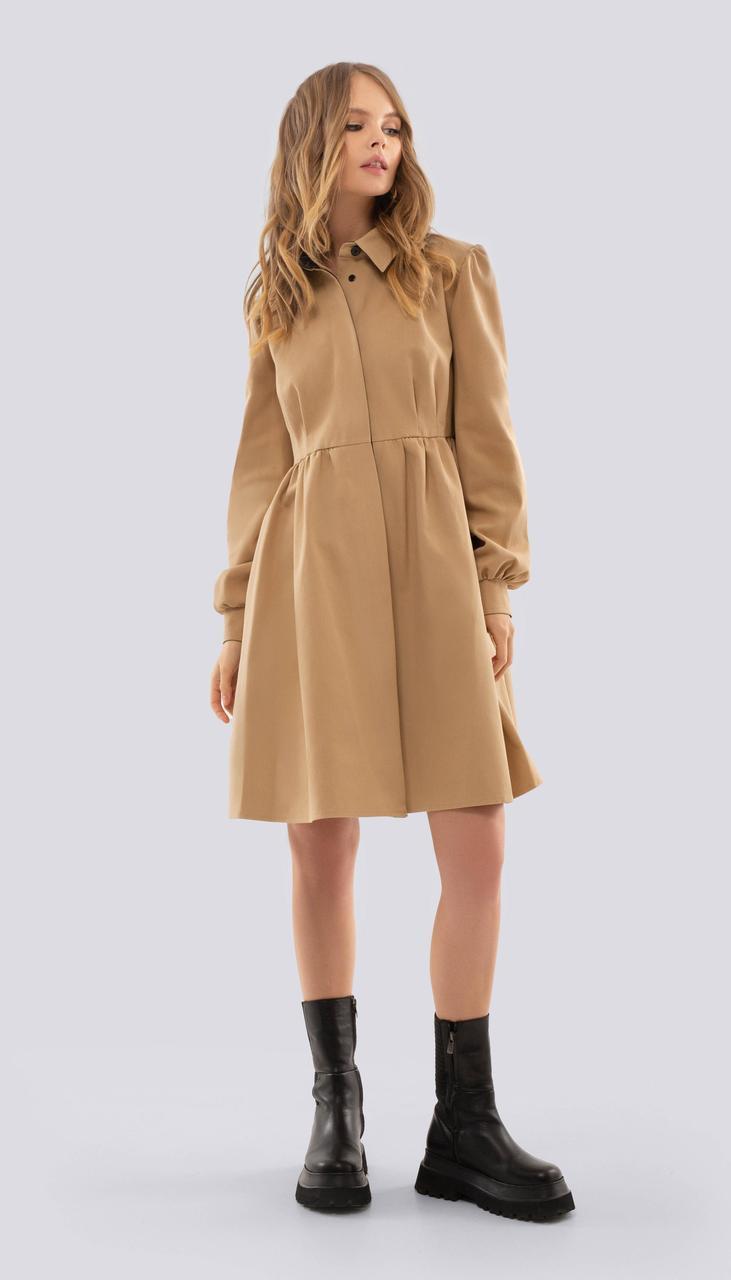 Платье PiRS-2514 белорусский трикотаж, бежевый, 40