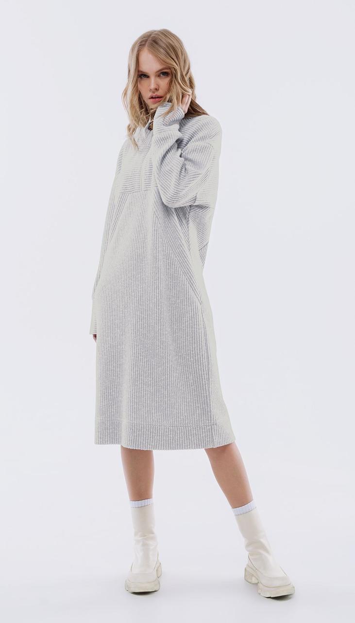 Платье PiRS-2509/1 белорусский трикотаж, серый, 40