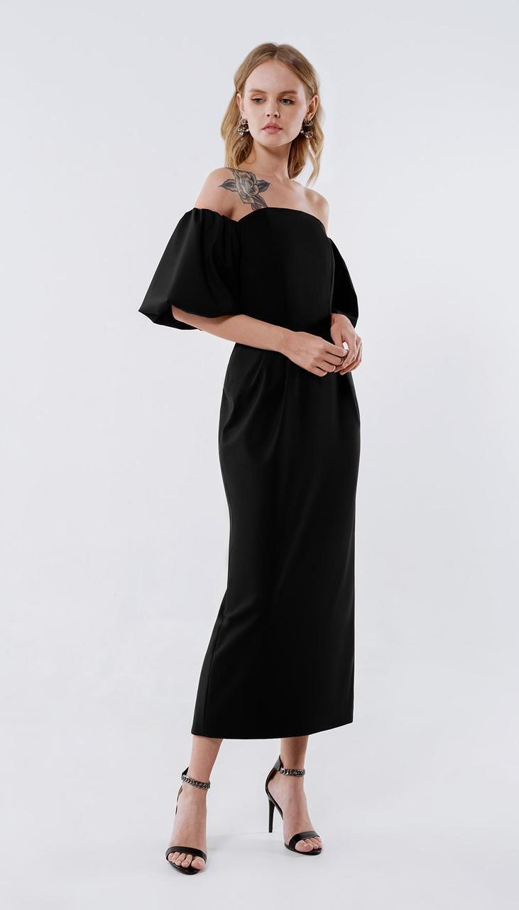 Сукня PiRS-2247/1 білоруський трикотаж, чорний, 40